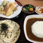 よこた手打ちうどん店 - 天ざるうどん定食(普通盛り・カレー)