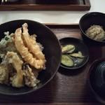 定食・パスタ かたぎりさん - 天丼 950円