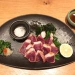 天ぷらと旬の肴 田丸 - 河内鴨(鴨ロース)のタタキ 1580円(税込)
