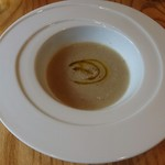 フルエンテ - 新玉ねぎと牛蒡のスープ