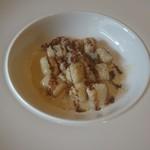 フルエンテ - ジャガイモのニョッキ クルミとゴルゴンゾーラのソース バルサミコがけ