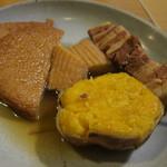 酒蔵 大太鼓 - 安納芋、丸天、豚バラ、すまき