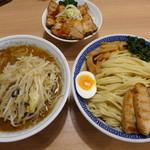麺屋 ゆう - 野菜もりそば(850円)+特盛り(150円)+チャーシュー丼(250円)