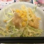 くれ星製麺屋 - サービスのサラダ
