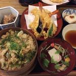 割烹 みや古 - 深川めしと天ぷらのセット、略して深天