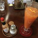 66519054 - 会津産トマトジュース(お好みでタバスコ・塩を入れて‥)