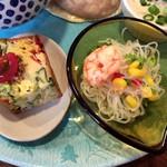 神谷カフェ - ヘルシーそうな野菜総菜と