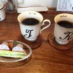 神谷カフェ - 珈琲カップのアルファベットが偶然にも おぉ-(o゚Д゚ノ)ノ