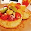 cafe a。u。n - 料理写真:季節のフルーツパンケーキ