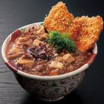 豚料理専門店 銀呈 - 麻婆豆腐丼 自家製ラー油と香辛料が効きます