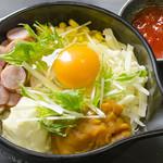 お好み焼き 道とん堀 - 野菜たっぷりグラタン風おこのみやき お子様メニュー 特製トマトソース