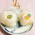 福田屋 - フルーツ大福(キウィ、パイナップル)