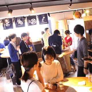 30名以上で貸切可!料理持ち寄りの日本酒パーティーしよう!