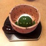 かに道楽 - アイスクリーム 抹茶かけ(2017.4)