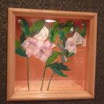 カフェ ドグレース - シルクで作った花