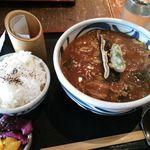 憩家 - ランチ・カレーうどん定食(白ご飯+選択うどん2玉) 870円 2016年3月