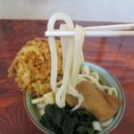 手打ちうどん ムサシ - 食べ応えのある堅い麺です。