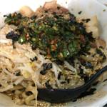 自家製太麺 ドカ盛 マッチョ - まぜそば