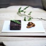 七草 - 小豆羹のふきのとう添え クルミの飴炊き