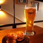 TABLE O TROIS - アミューズと長浜浪漫ビールの淡海ピルスナー