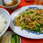 三久飯店 - 野菜炒め定食半ライス