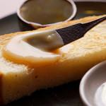 五十鈴川カフェ - トーストには甘いミルクジャムを♪