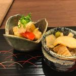 あなごと日本酒 なかむら - 穴子と野菜の南蛮と割り干し大根と穴子