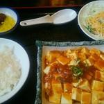 台湾美食城 - 料理写真:麻婆豆腐定食(ここにラーメンが付いて)950円(税込)