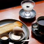 五十鈴川カフェ - 五十鈴川カフェのモーニングセット。