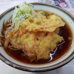 信越そば - 2品そば・ハム天&にんじん天(450円)