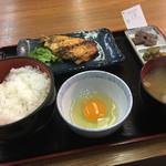 くまもと - かさご西京焼き(600円)+生たまご(80円)
