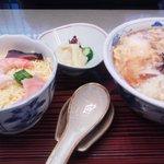 6655083 - 糸源の麺ランチ(けらんうどん+ちらし寿司)900円
