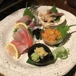 66551367 - 【2017年03月】刺身盛合せ、北海道の旬の魚を実感できます。