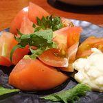 66552092 - 冷しトマト ガリマヨ