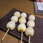 焼とり いぶし坐 - うずらの卵は久ぶりに焼き串で食べたかも・・・