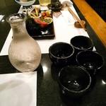 66553315 - お酒はこのレン(漢字が出てこない。山形)の他5合くらいを4人で少しずつ飲みました。