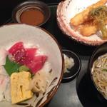逸品料理屋 流石 - 胡麻ダレ丼とおうどんのセット(980yen)