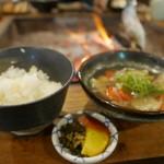 高森田楽の里 - キビご飯とだご汁