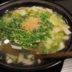 健食優菜 ひら - ランチの特製麺料理で、この季節は温芯菜麺