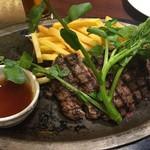 66560213 - AU産 氷温熟成 牛キューブロール肉のグリル (リブロース芯)