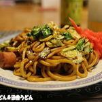 矢島製麺所 - おじさん作太麺焼きそば