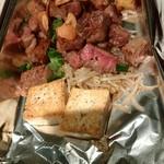 鉄板焼 ぼんの - 阿波牛のサーロインステーキと野菜グリル