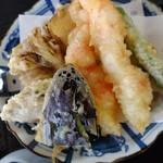 蕎麦・酒 青海波 - 天せいろの天ぷら