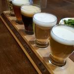 大雪地ビール館 - ドリンク写真:地ビールお試しセット 1080円