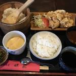 民芸茶屋 味蔵 - とり天定食