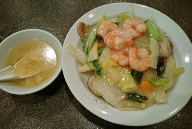 喜夜楽番 - 海老入りの中華丼です!