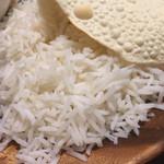 タルカリ - バスマティライス。インドの米。