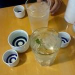 66569593 - 国府鶴、レモンサワー、かち馬杯