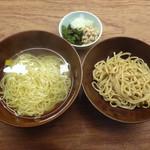 澄まし麺 ふくぼく - 澄まし麺(半盛)+醤油かけ麺(半盛)