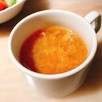 66574533 - ステーキに付くスープ